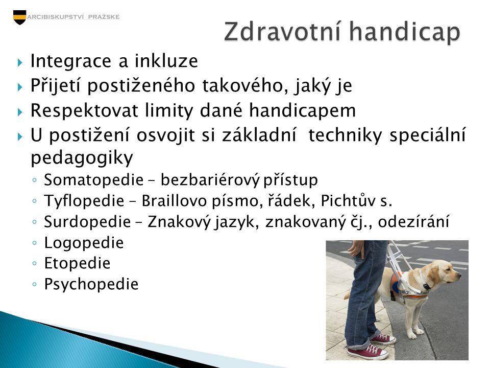 Zdravotní handicap Integrace a inkluze