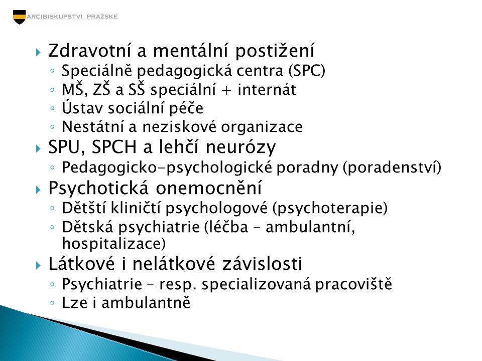 Zdravotní a mentální postižení