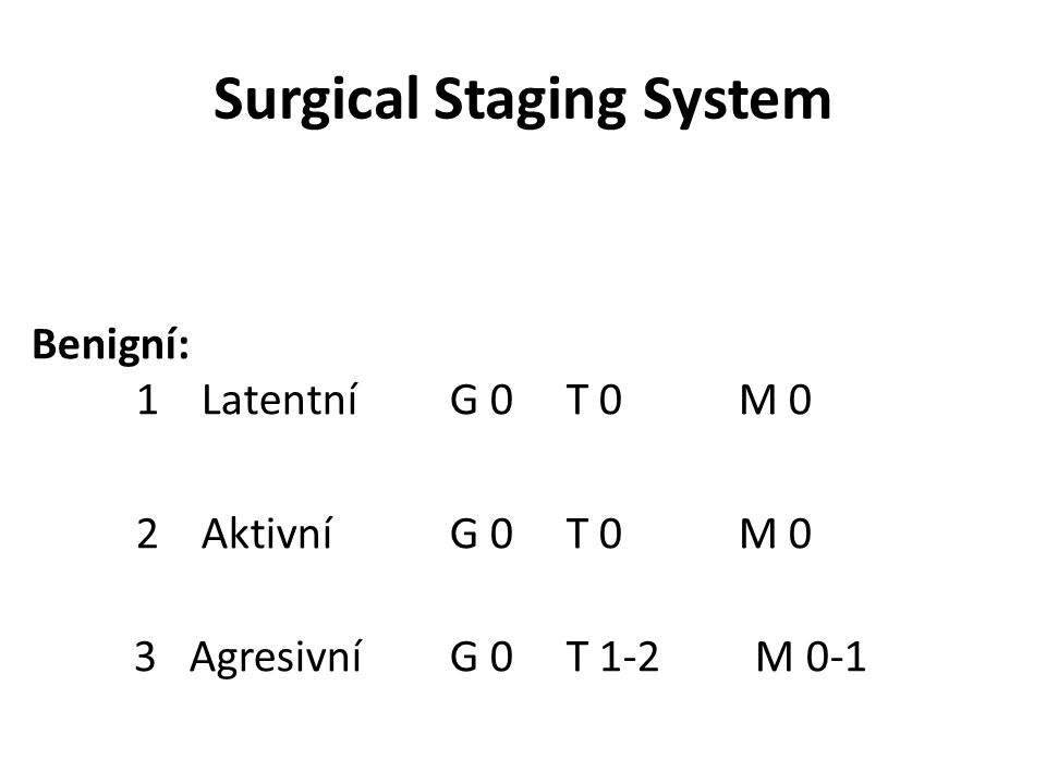 Surgical Staging System
