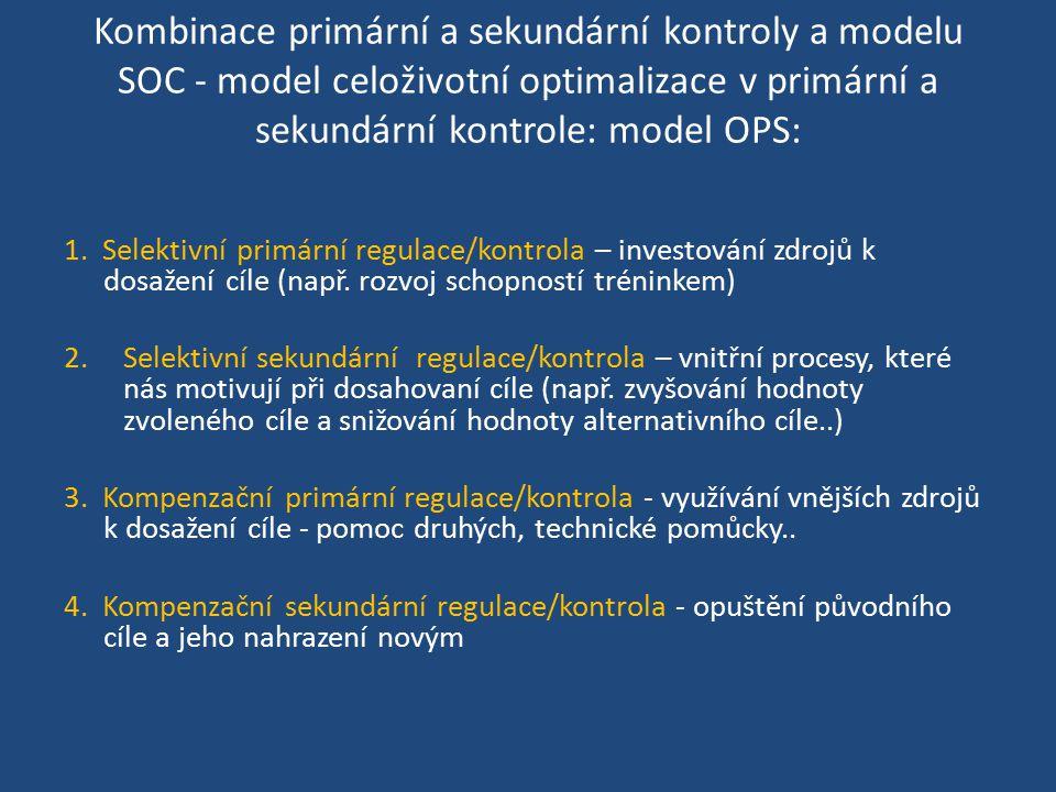 Kombinace primární a sekundární kontroly a modelu SOC - model celoživotní optimalizace v primární a sekundární kontrole: model OPS:
