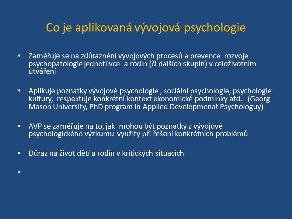 Co je aplikovaná vývojová psychologie