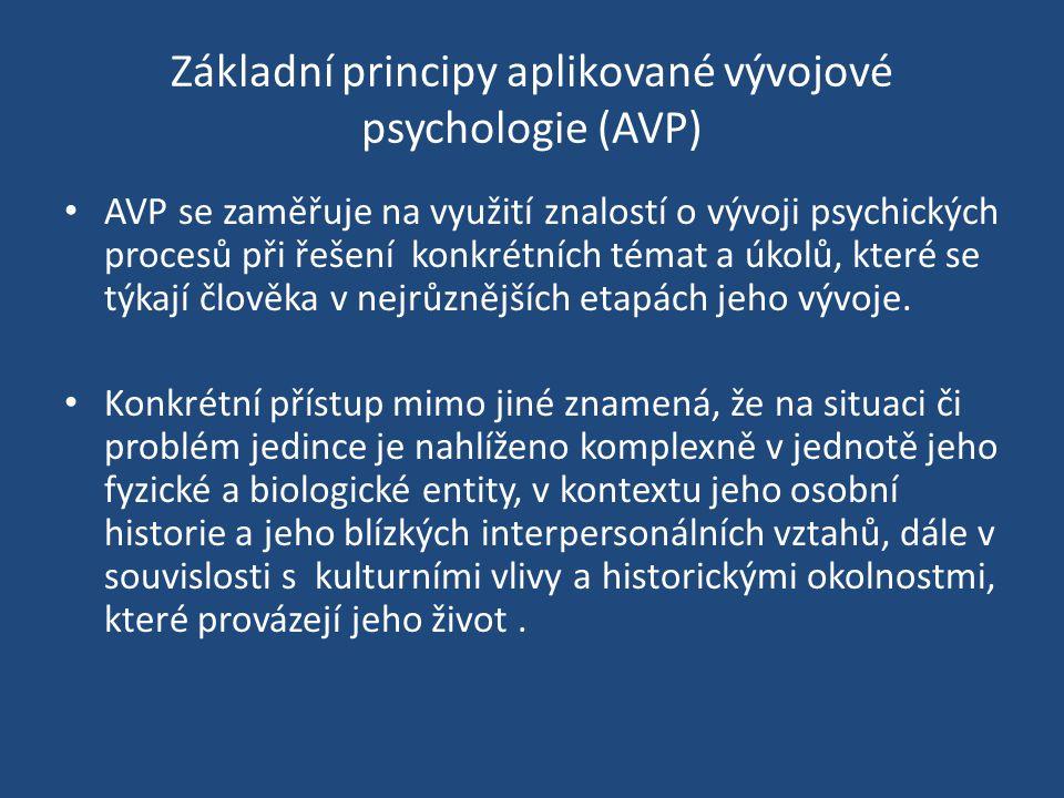 Základní principy aplikované vývojové psychologie (AVP)