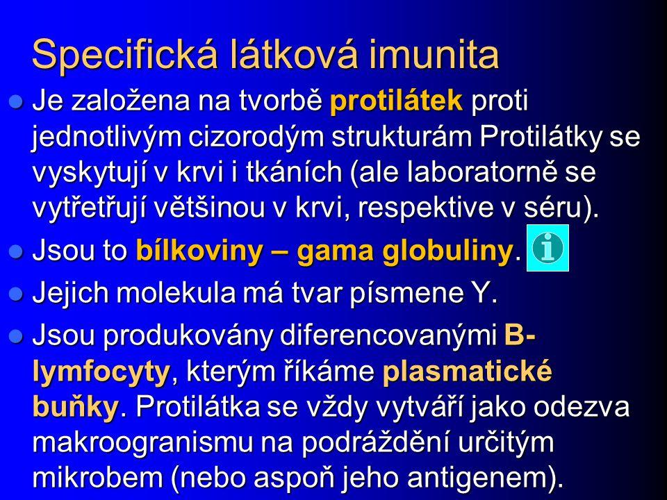 Specifická látková imunita