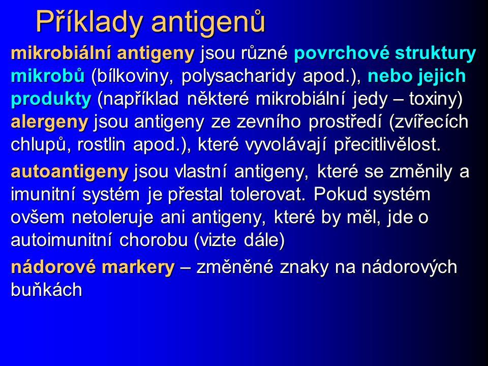 Příklady antigenů