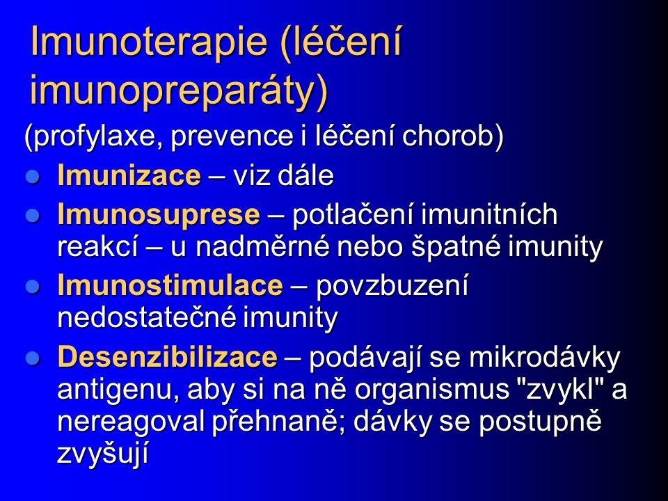 Imunoterapie (léčení imunopreparáty)
