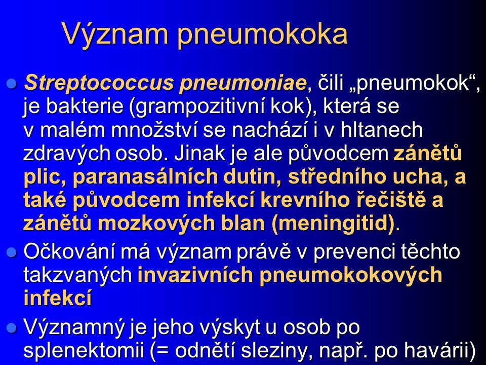 Význam pneumokoka