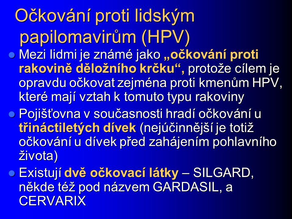 Očkování proti lidským papilomavirům (HPV)