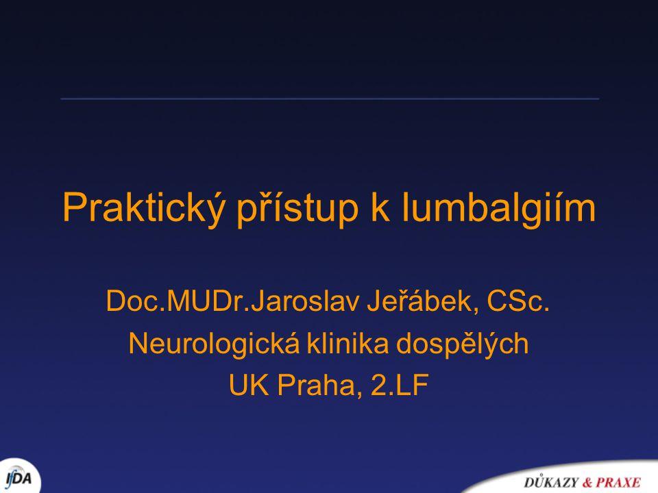 Praktický přístup k lumbalgiím