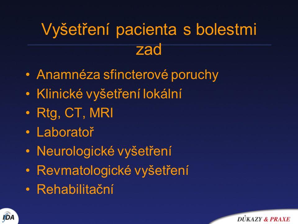 Vyšetření pacienta s bolestmi zad