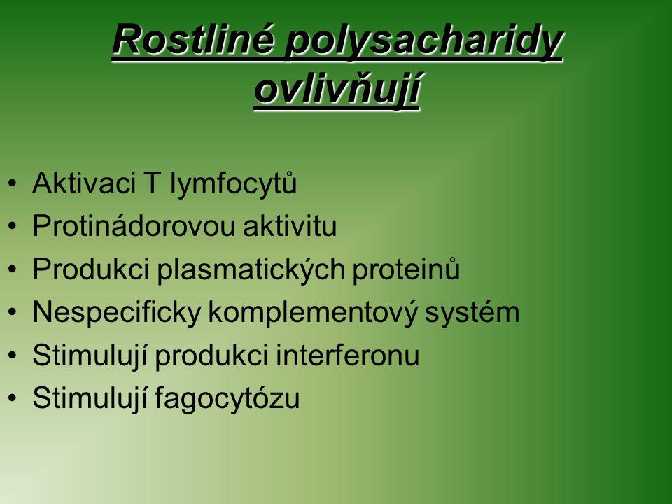 Rostliné polysacharidy ovlivňují