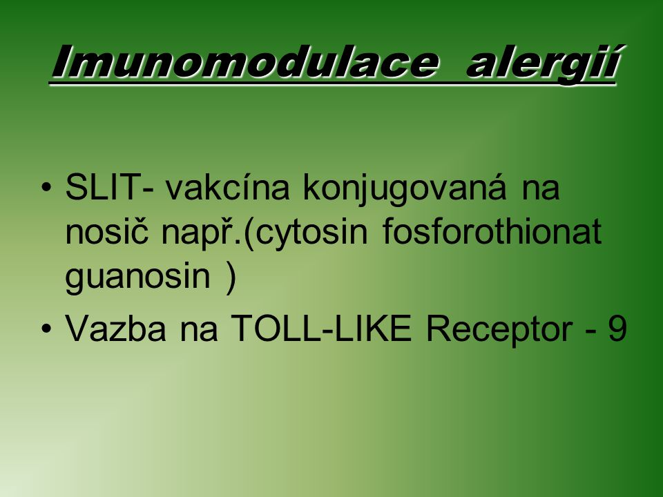 Imunomodulace alergií