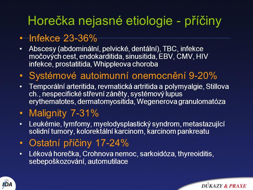 Horečka nejasné etiologie - příčiny