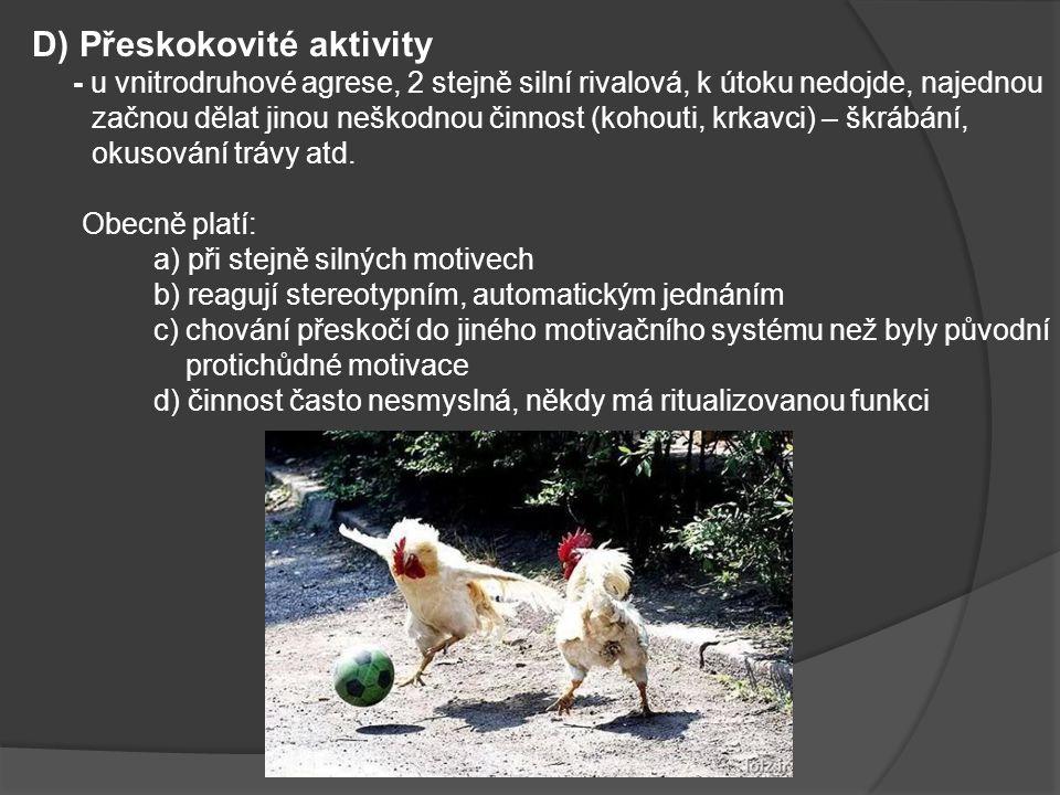 D) Přeskokovité aktivity