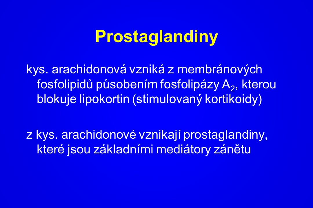 Prostaglandiny