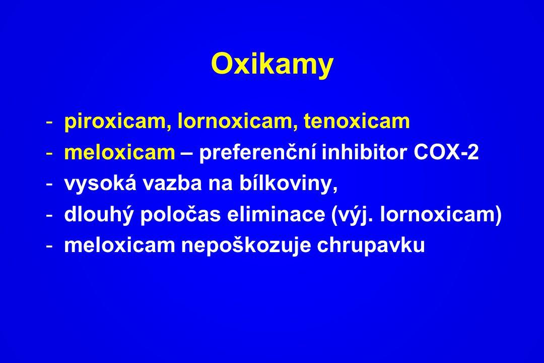 Oxikamy piroxicam, lornoxicam, tenoxicam