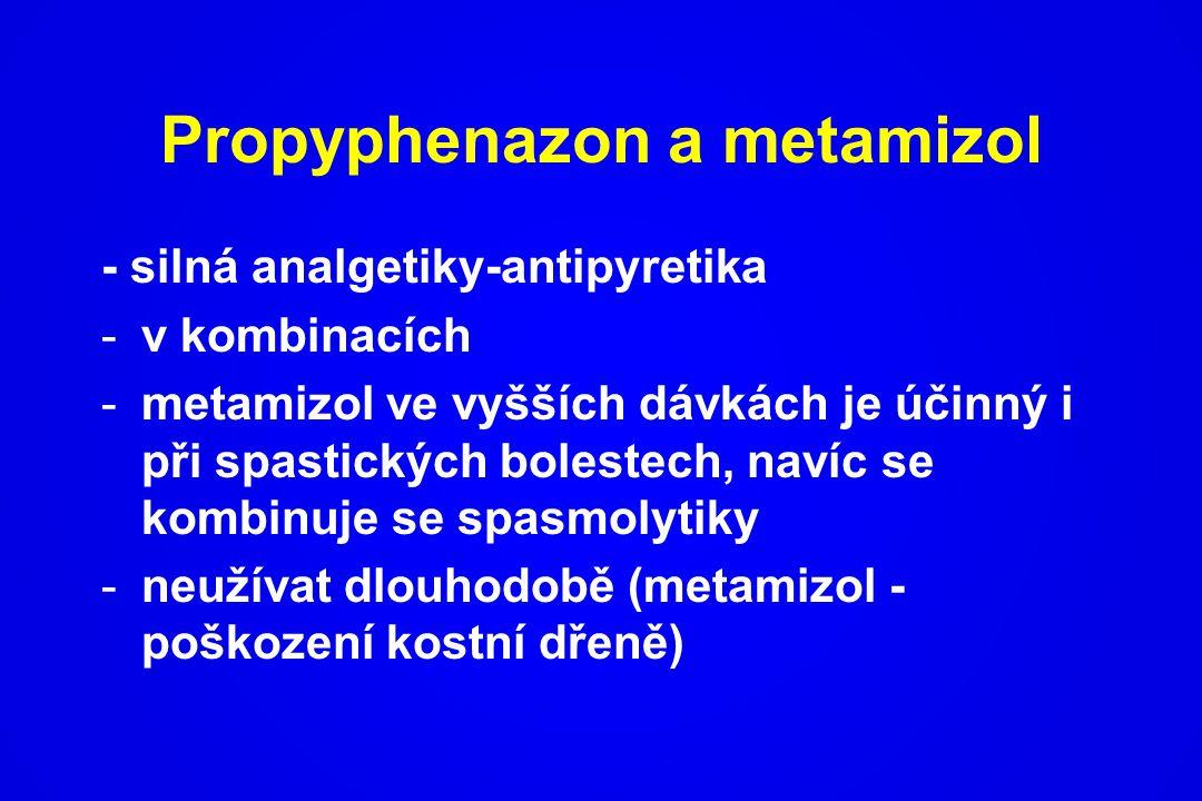Propyphenazon a metamizol