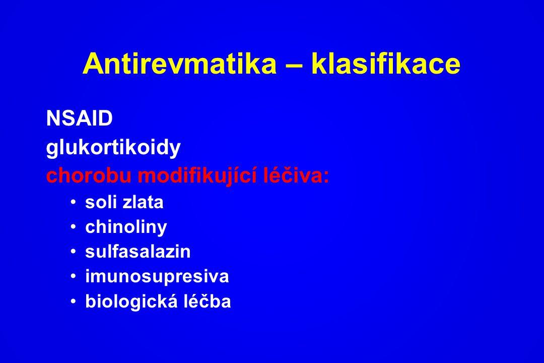 Antirevmatika – klasifikace