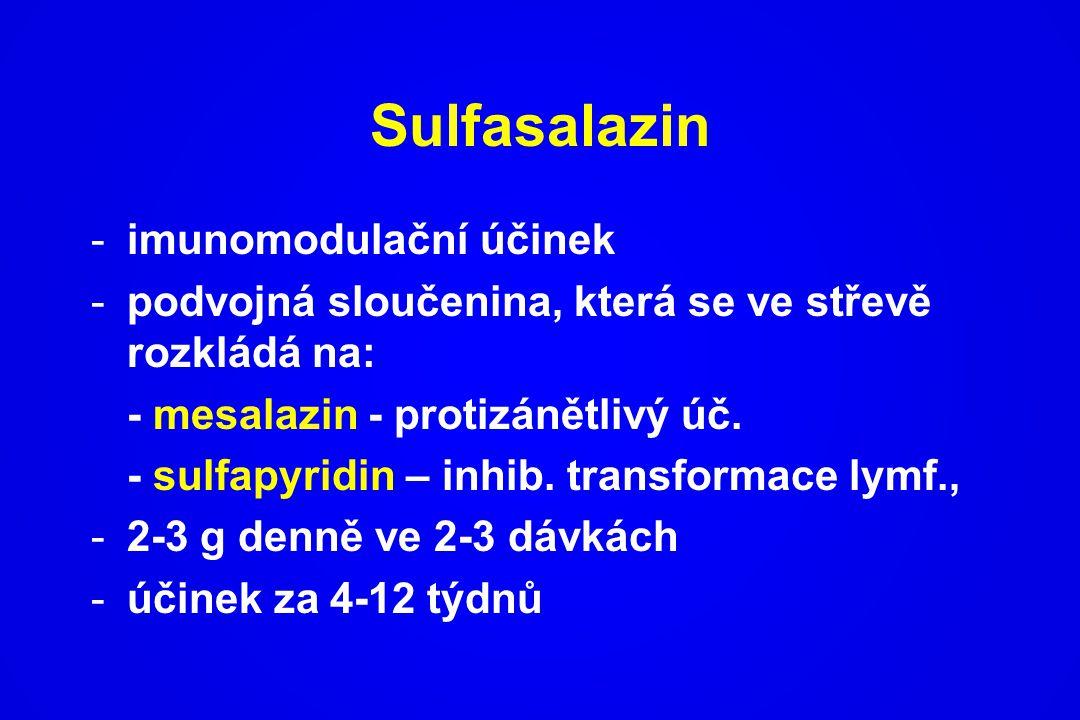 Sulfasalazin imunomodulační účinek