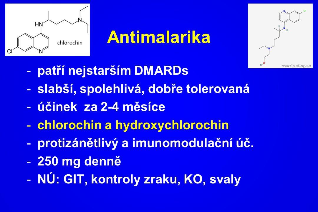 Antimalarika patří nejstarším DMARDs