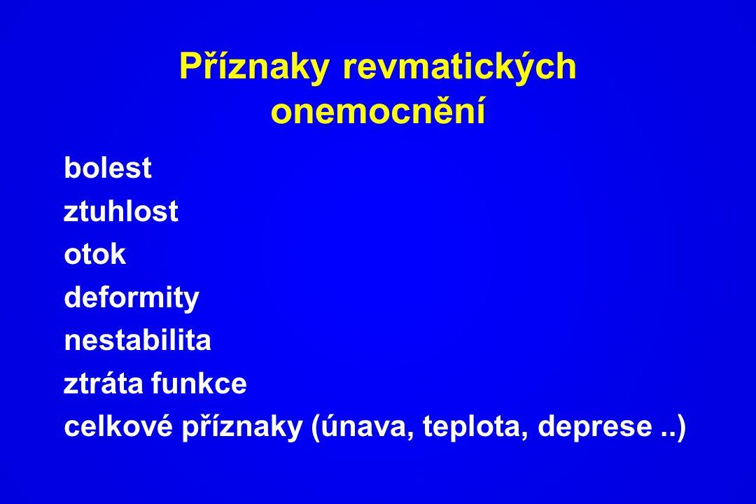 Příznaky revmatických onemocnění