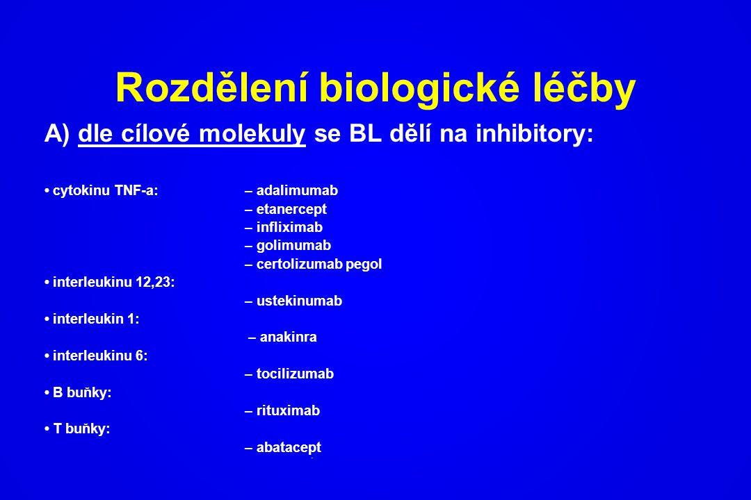 Rozdělení biologické léčby