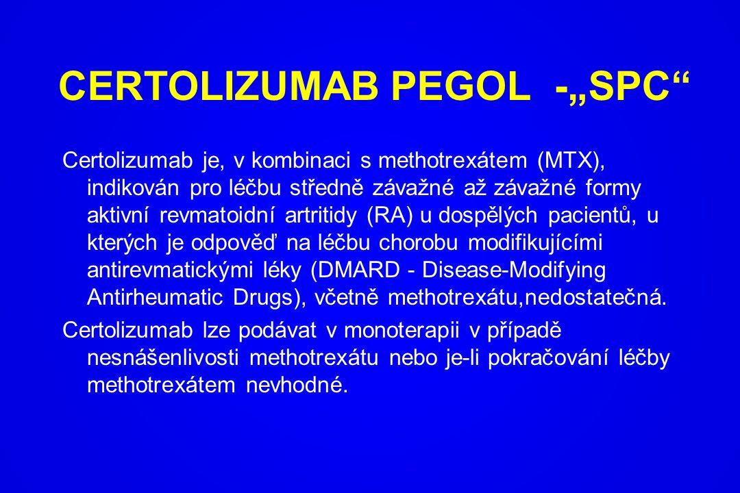 """CERTOLIZUMAB PEGOL -""""SPC"""