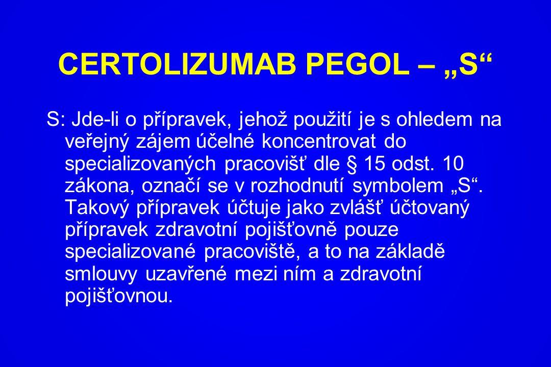 """CERTOLIZUMAB PEGOL – """"S"""