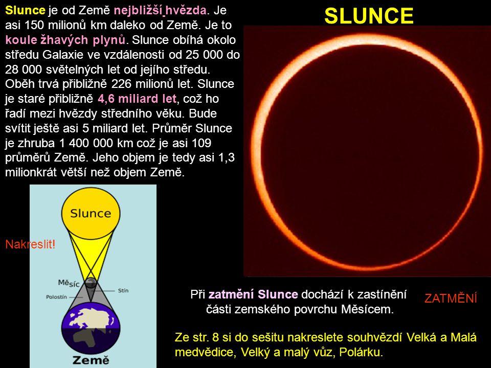 Slunce je od Země nejbližší hvězda