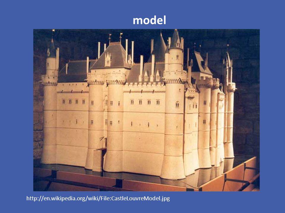 model http://en.wikipedia.org/wiki/File:CastleLouvreModel.jpg