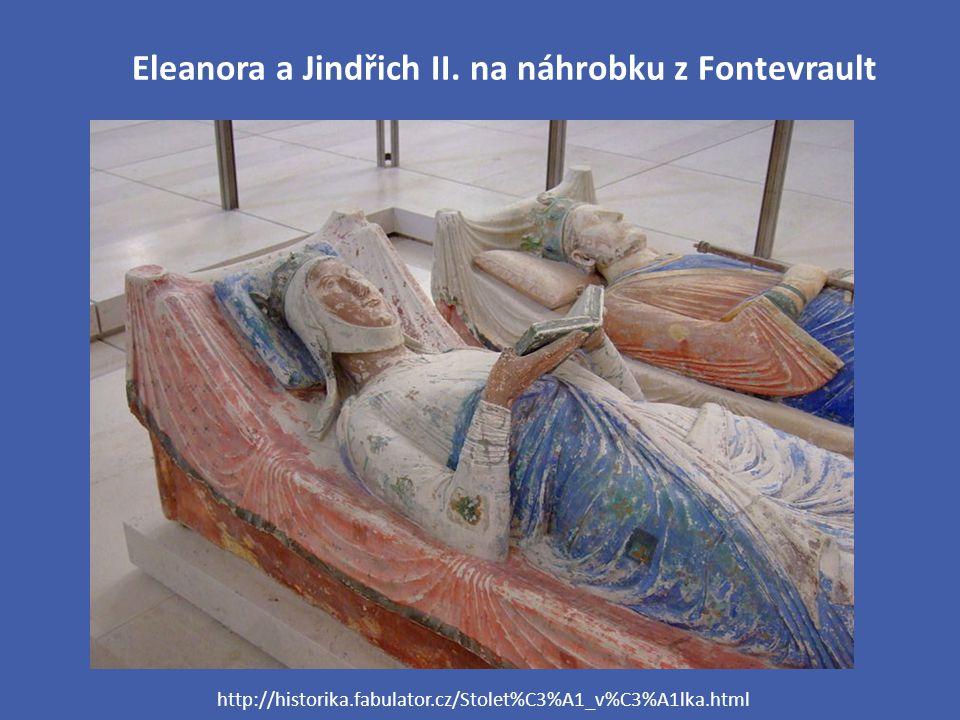 Eleanora a Jindřich II. na náhrobku z Fontevrault