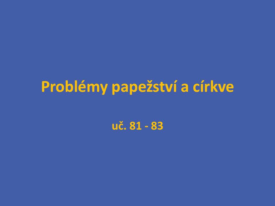 Problémy papežství a církve