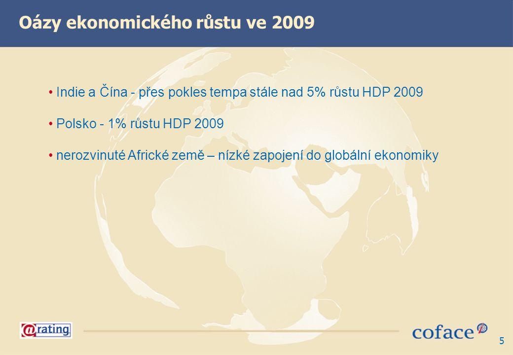 Oázy ekonomického růstu ve 2009