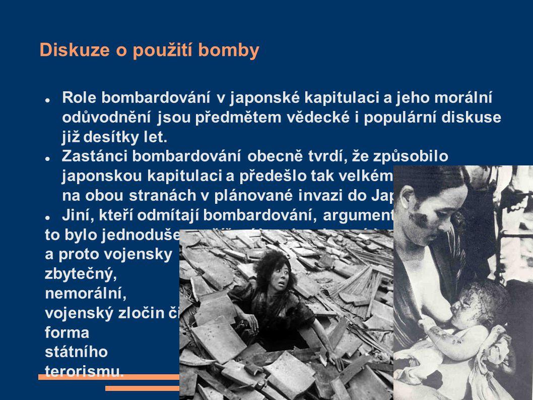 Diskuze o použití bomby