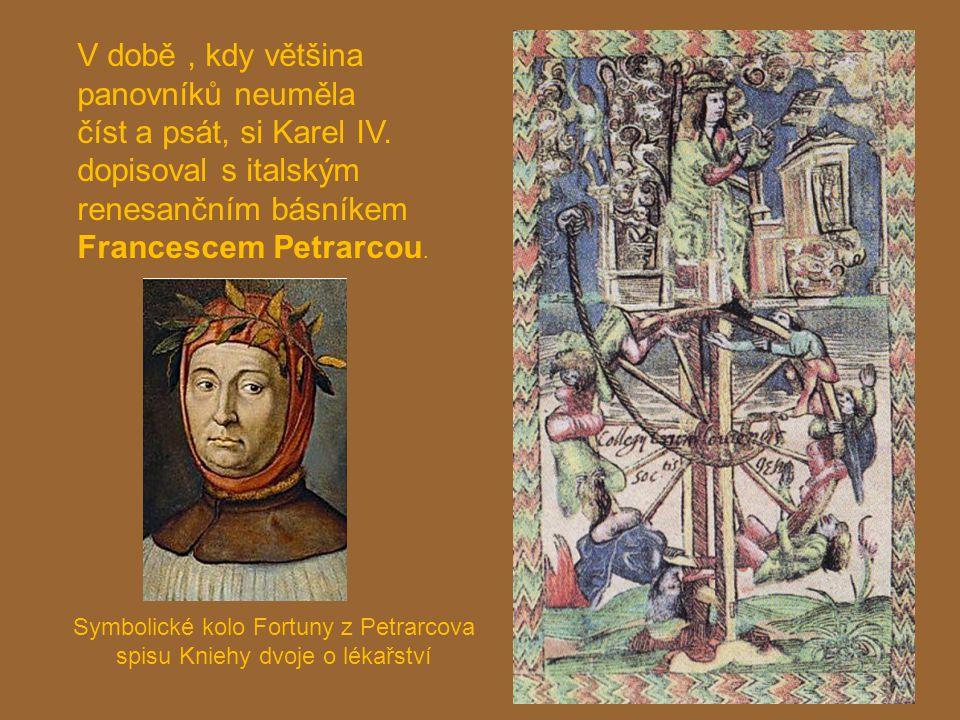 Symbolické kolo Fortuny z Petrarcova spisu Kniehy dvoje o lékařství
