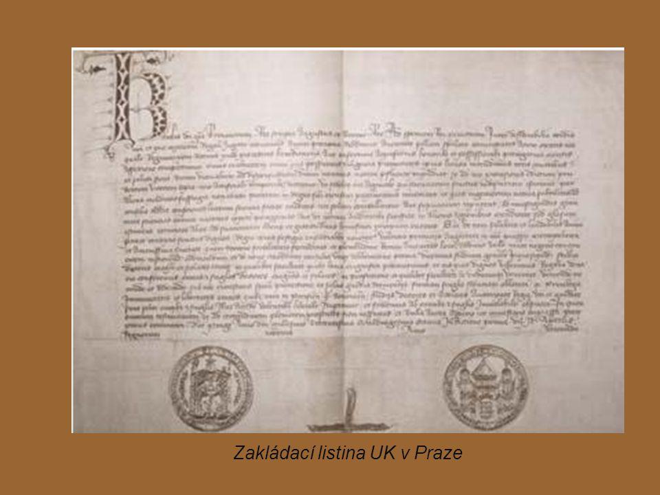 Zakládací listina UK v Praze
