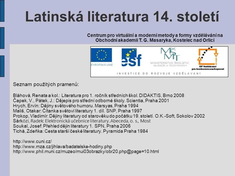 Latinská literatura 14. století