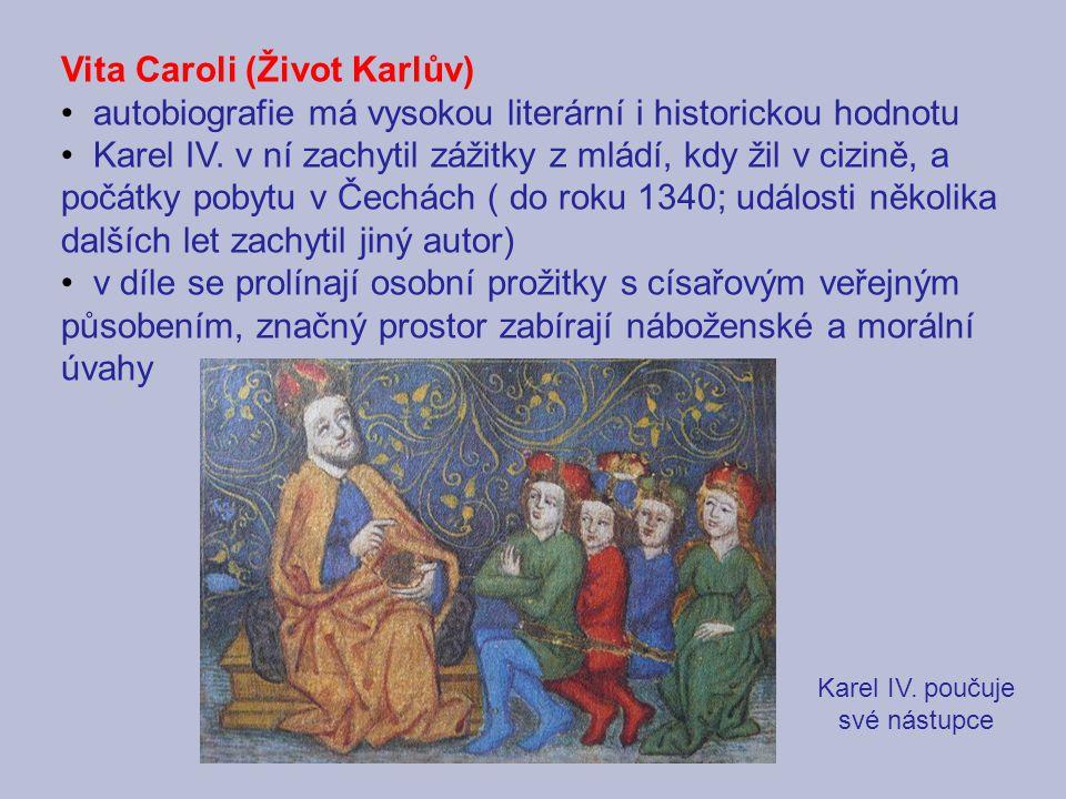 Karel IV. poučuje své nástupce