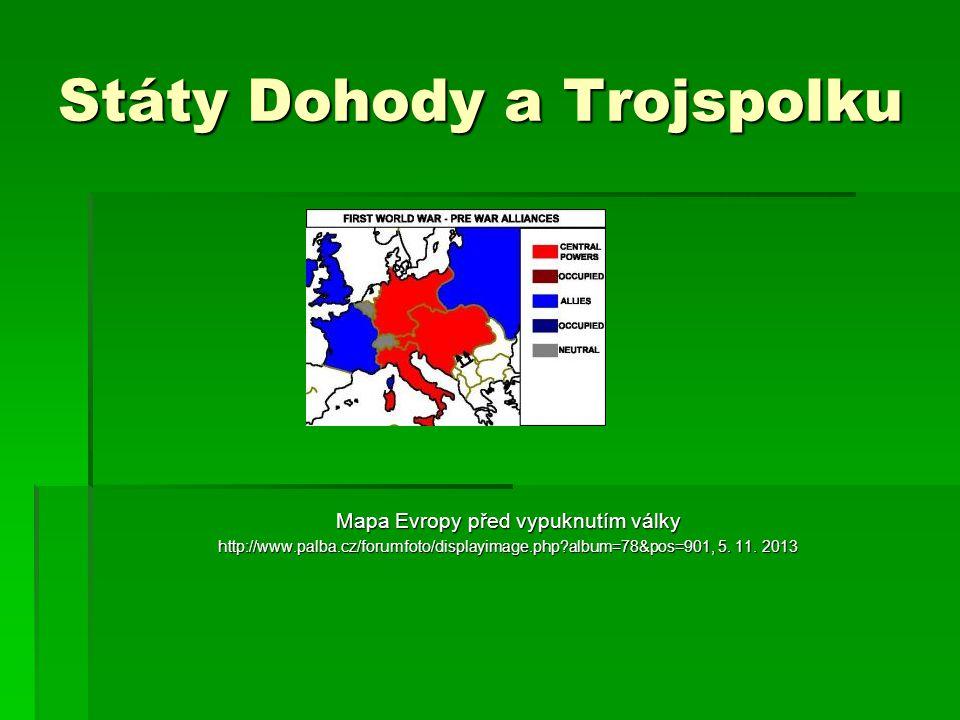 Státy Dohody a Trojspolku