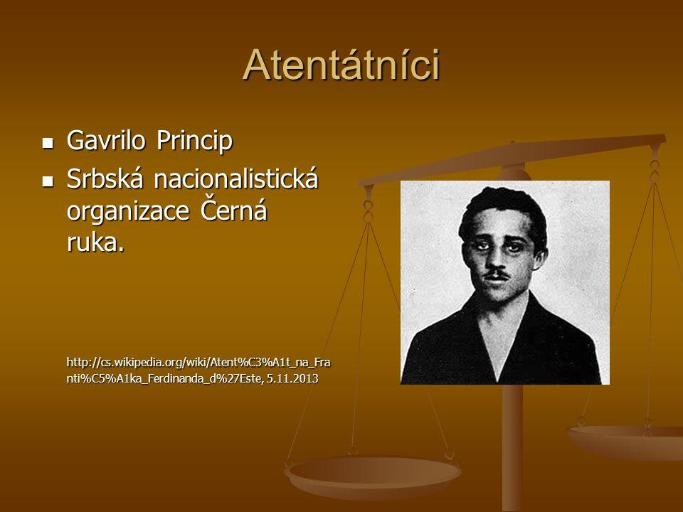 Atentátníci Gavrilo Princip