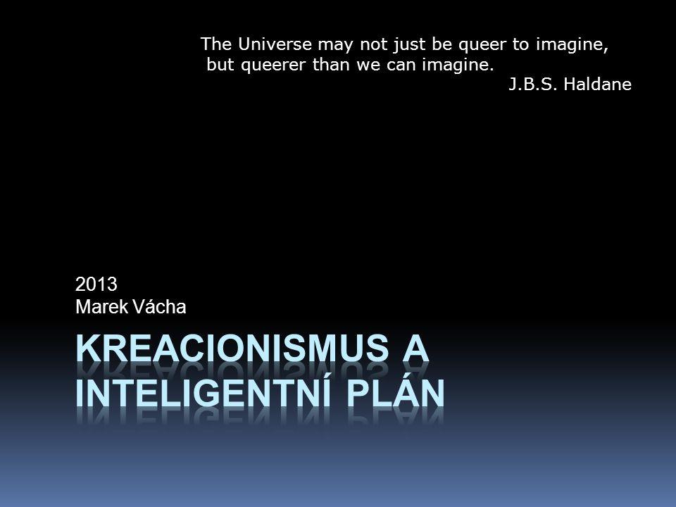 Kreacionismus a inteligentní plán