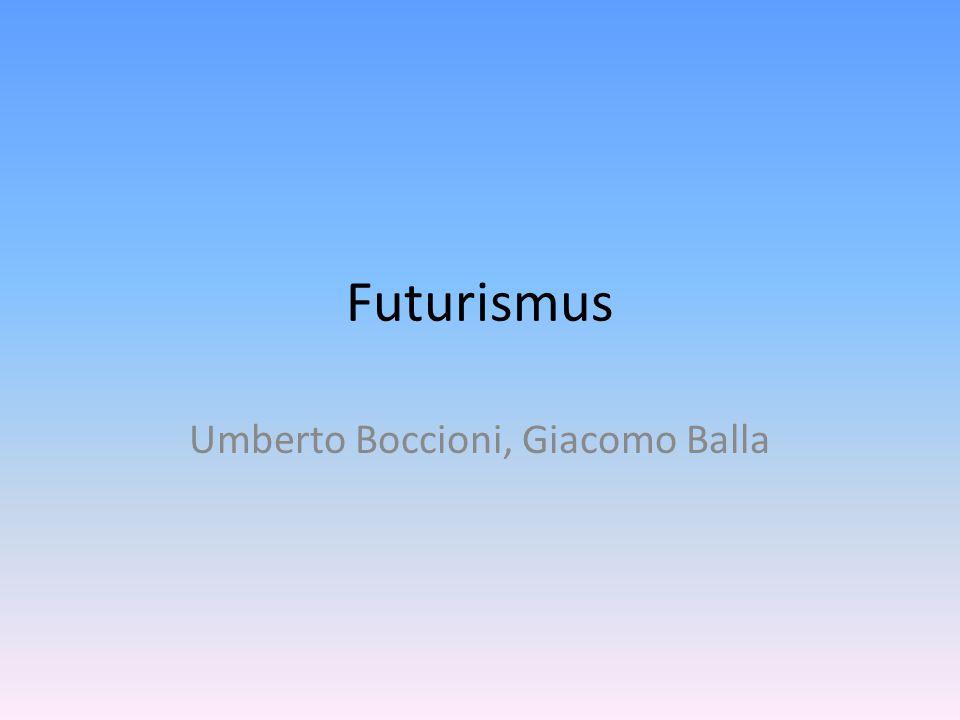 Umberto Boccioni, Giacomo Balla