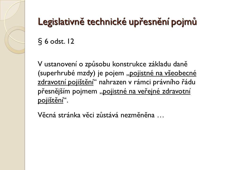Legislativně technické upřesnění pojmů