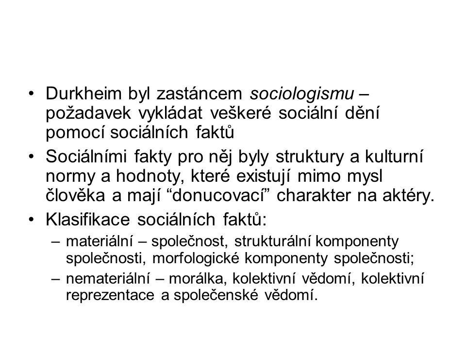 Klasifikace sociálních faktů: