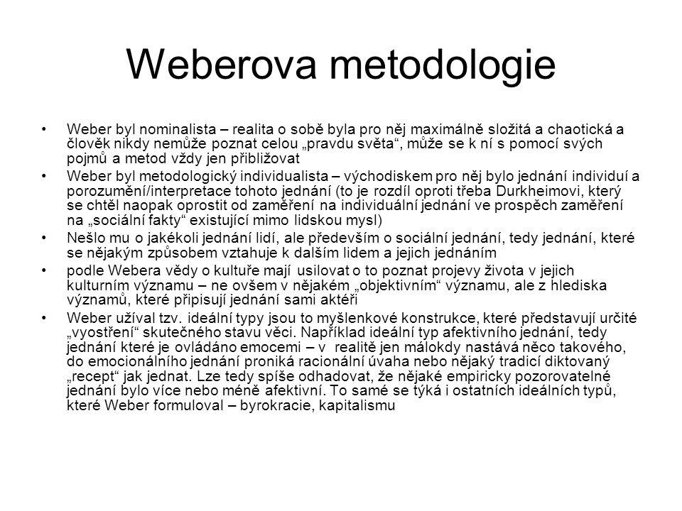 Weberova metodologie