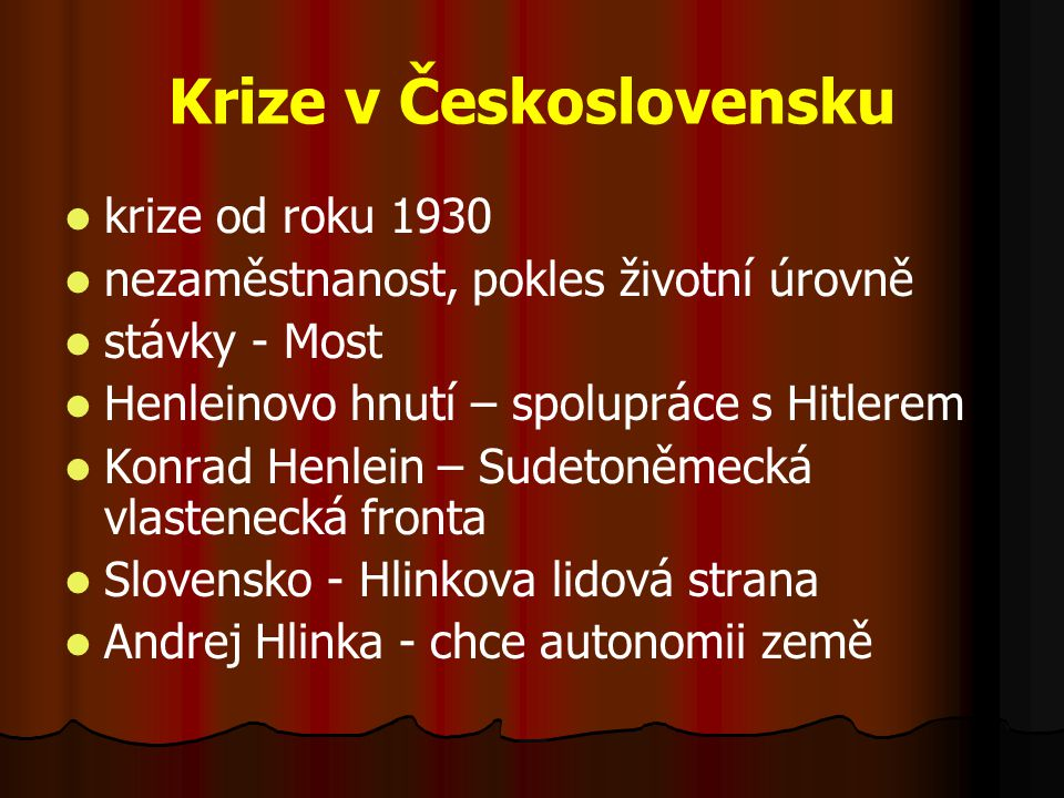 Krize v Československu