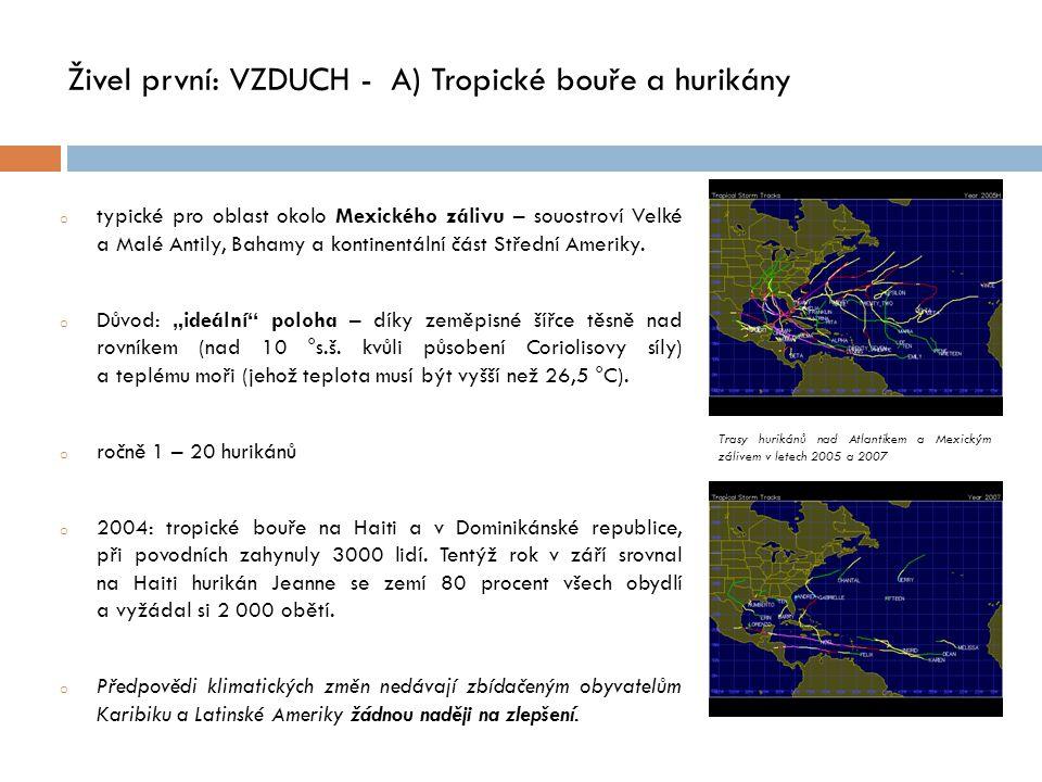 Živel první: VZDUCH - A) Tropické bouře a hurikány
