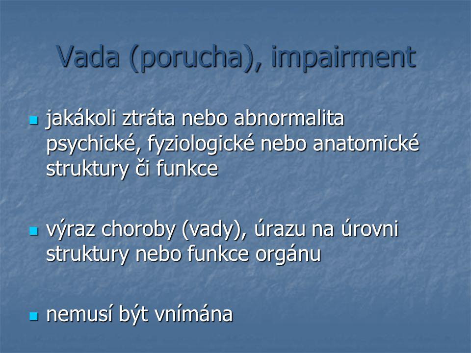 Vada (porucha), impairment