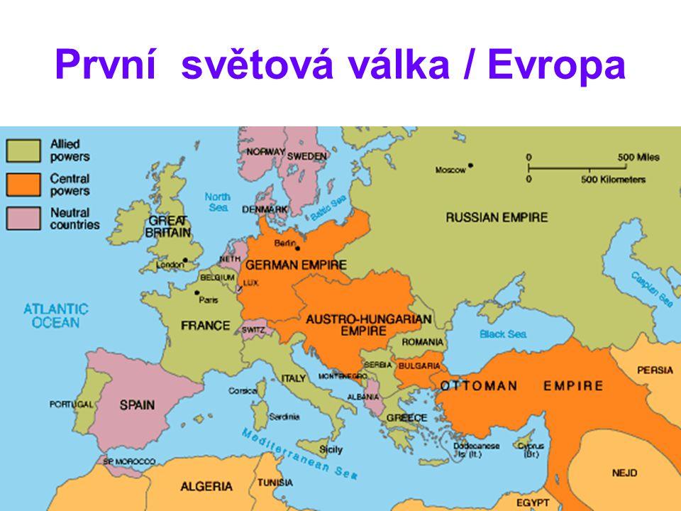 První světová válka / Evropa
