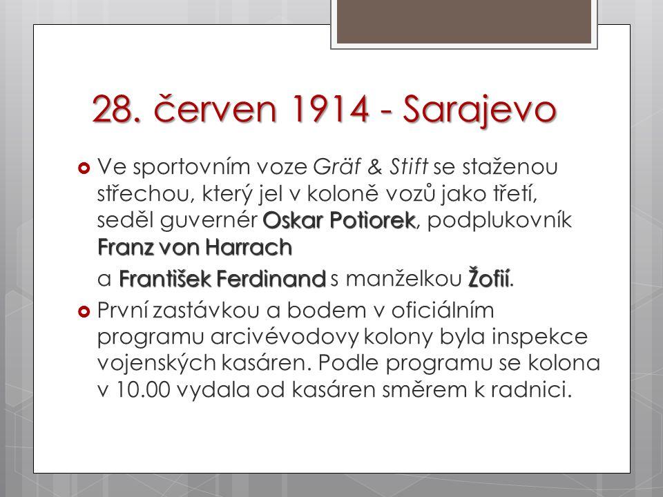 28. červen 1914 - Sarajevo