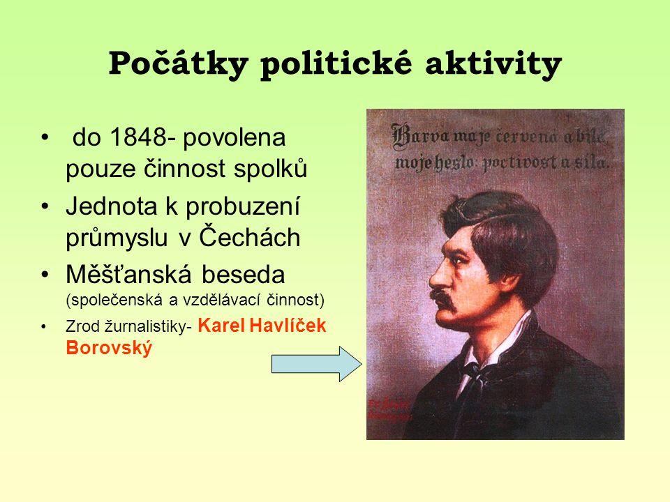 Počátky politické aktivity